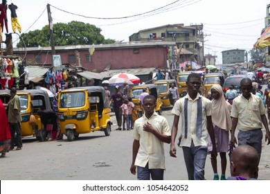 Ajegunle City, Lagos State/Nigeria- March 21, 2018