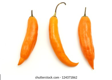 Aji amarillo on a white background