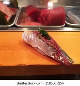 AJI ,Japanese Horse Mackerel Sushi