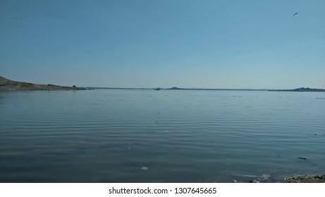 Aji River in Rajkot, Gujrat (India)