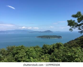 """Aji, Takamatsu, Kagawa/Japan-September 19th 2018:Aji Ryuo-zan Koen, Aji Ryuo-zan park"""""""