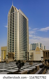AJMAN, UNITED ARAB EMIRATES - JUNE 28, 2016: Cityscape of Ajman. Ajman is the capital of the emirate of Ajman in the United Arab Emirates.