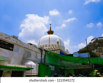 Ajmer, Rajasthan, India - 01 July 2018: Dargah Sharif is a sufi shrine (Dargah) of sufi saint, Moinuddin Chishti located at Ajmer, Rajasthan, India.