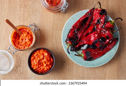Ajvar - delicious dish of roasted red peppers.