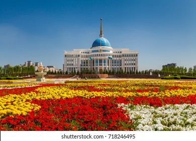 The Ak Orda Presidential Palace,Kazakhstan, Astana, July 24, 2017