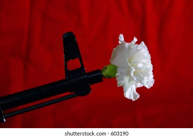 AK-47 with Carnation