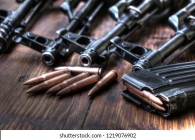 Ak47 guns with ammo