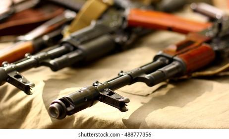 AK-47 Kalashnikov Russian automatic gun rifle USSR weapons