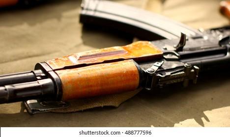 AK-47 Kalashnikov Russian and World Terrorists weapons