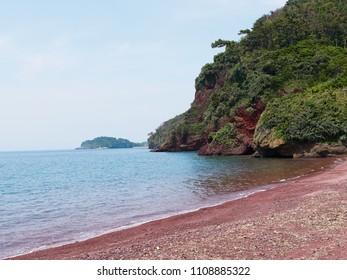 Akahama beach at Odika island in Japan