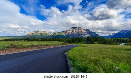 Akamina parkway in Waterton Lakes National Park