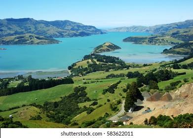 Akaroa Harbour South Island New Zealand