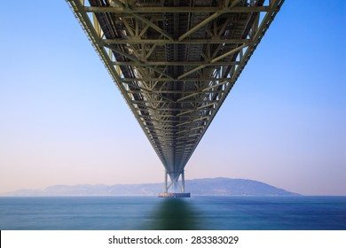 Akashi Kaikyo Bridge the world's longest suspension bridge, Kobe, Japan
