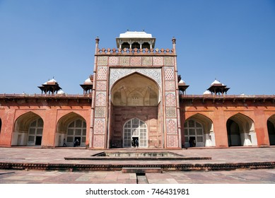 Akbar's Tomb at Sikandra, Agra. It was built during 1605-13.