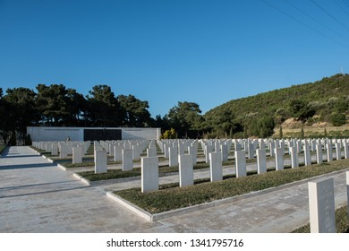 """Akbas martyrdom"" Turkish martyrdom. Graves of soldiers who died in the Gallipoli wars. Canakkale. Gallipoli peninsula. Turkey. March 18, 2017."