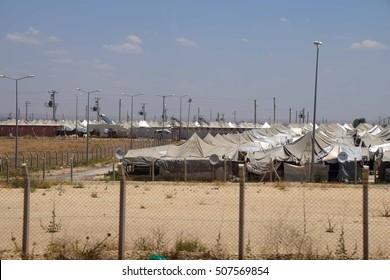 Akcakale Syrian  refugee camp near the Syrian border,  in Southeastern Turkey, June 2014