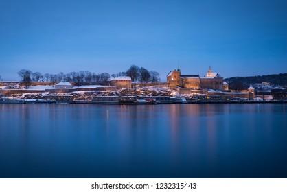 Akershus castle - seen from Aker brygge, Oslo