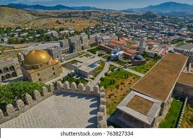 AKHALTSIKHE, GEORGIA - 08 AUGUST 2017: Majestic Rabati Castle Complex under summer sunshine