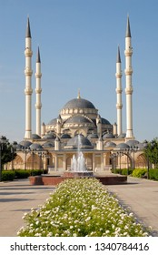 "Akhmad Kadyrov Mosque (also known as ""The Heart of Chechnya""). Grozny, Chechnya (Chechen Republic), Russia, Caucasus."