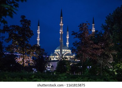 "Akhmad Kadyrov Mosque (officially known as ""The Heart of Chechnya"") in Grozny city,Chechen republic, Russia."