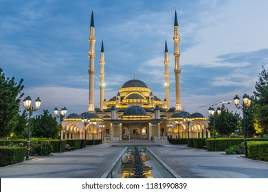 Akhmad Kadyrov Mosque (officially known as The Heart of Chechnya) in Grozny, Russia