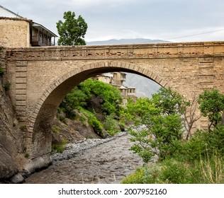 "Akhty village, Dagestan, the famous bridge ""Usta Idrisan Muig"""