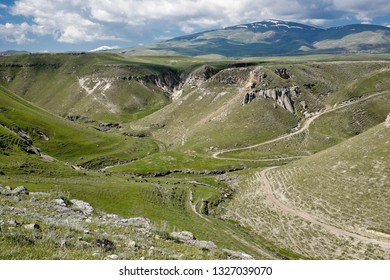 Akhurian/Arpa River valley separating Turkey from Armenia at Ani