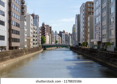 AKIHABARA, TOKYO, JAPAN - APRIL 26, 2018. The popular tourist district known as 'Akiba' or 'Electric Town' in central Tokyo. The Kanda River flows through Akihabara.