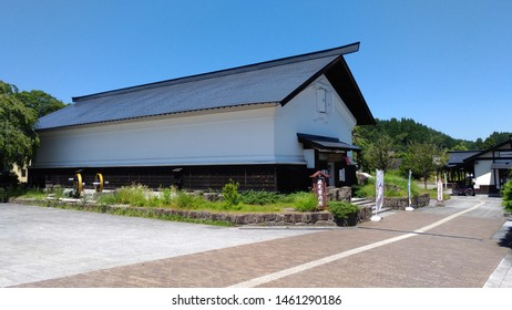 Akita, Japan. AUG 05, 2017 : Exterior of Kakunodate Station, a railway station in Semboku, Akita Prefecture, Japan. Kakunodate is famous by the Bukeyashiki (samurai residences)