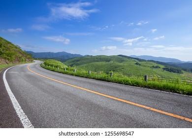Akiyoshidai landscape in summer, Ymaguchi prefecture, Japan