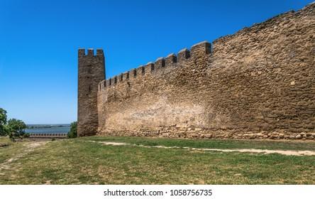 Akkerman Citadel in Bilhorod-Dnistrovskyi near Ukrainian Odessa city in a sunny day