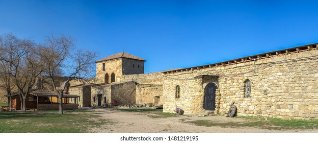 Akkerman, Ukraine - 03.23.2019. Open Air Museum inside the Akkerman Citadel , a historical and architectural monument in Bilhorod-Dnistrovskyi