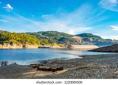 Akkopru Dam on Dalaman River in Turkey