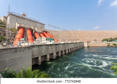 Akosombo Hydroelectric Power Station on the Volta River supplies with energy almost whole Ghana and half of Togo, West Africa.