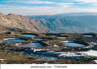 akoura lakes in lebanon