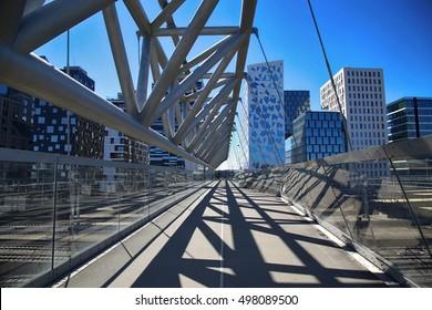 Akrobaten pedestrian bridge in Oslo, Norway