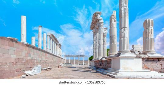 Akropolis antique city, Pergamon (Bergama) Turkey