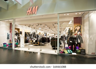 AKROPOLIS, LITHUANIA - NOVEMBER 25 : H&M store on November 25, 2013, Lithuania.