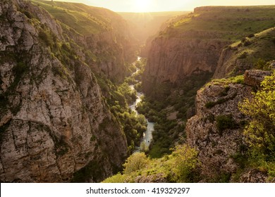 Aksu River Canyon, Aksu-Jabagly natural reserve in Alatau mountains, Central Asia, Kazakhstan