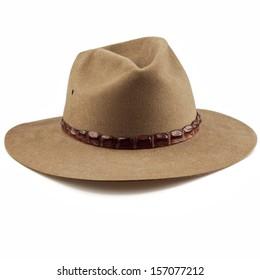 akubra cowboy hat on white background 42c1d76c460