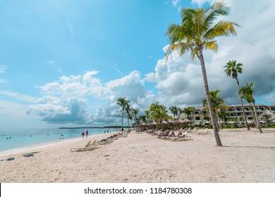 Akumal, Mexico - September 16 2017: Akumal Beach