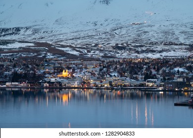 Akureyri city in Iceland
