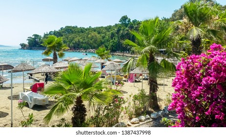 Akyaka Turkey beach sunbed Daily life Summer Travel Destination