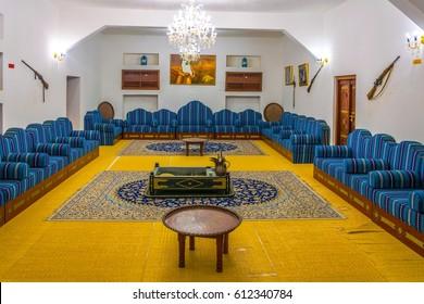 AL AIN, UAE, OCTOBER 28, 2016: Interior of the old palace museum in Al Ain, UAE.