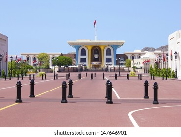 Al Alam Palace in old Muscat, Oman