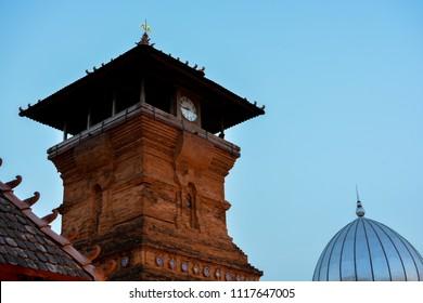 Al Aqsa Mosque Manarat Qudus (Masjid Menara Kudus) located in Kudus, Central Java, Indonesia when the morning