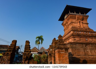 Al Aqsa Mosque Manarat Qudus (Masjid Menara Kudus) located in Kudus, Central Java, Indonesia when the morning with a clear sky