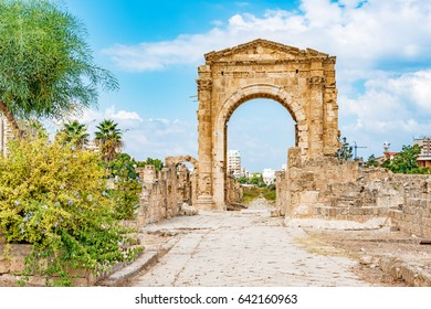 Al Bass archaeological site in Tyre, Lebanon. It is located about 80 km south of Beirut. Tyre has led to its designation as a UNESCO World Heritage Site in 1984.