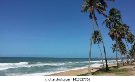 Maceió, AL Brazil  - July 18 2017: Cruz das Almas beach