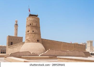 Al Fahidi Fort (1787), home to the Dubai Museum and city's oldest building. Dubai, UAE.
